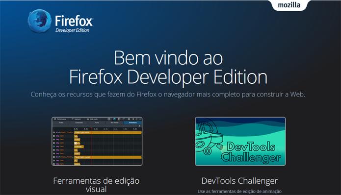 Versão para desenvolvedores do Firefox possui recursos para criar páginas na web (Foto: Reprodução/Firefox)