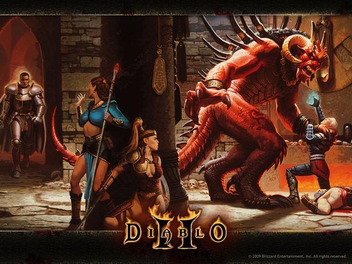 Diablo 2 manteve a qualidade na série de RPG (Foto: Divulgação/Blizzard)