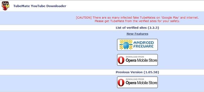 TubeMate é baixado pelo site (Foto: Reprodução/Thiago Barros)
