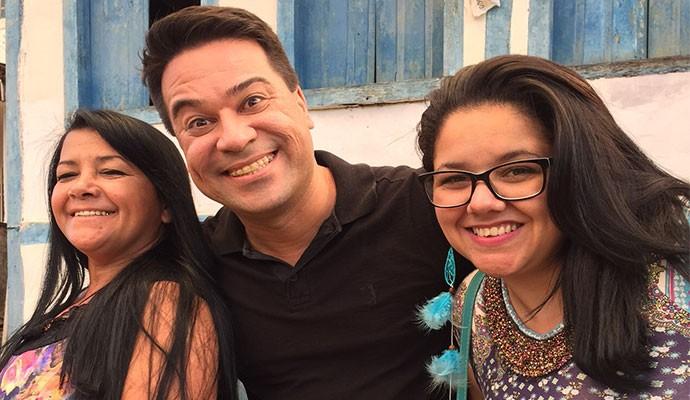 Cleunice Alves, Marcelo Honorato e Madonna Turnner em Estrela do Sul  (Foto: Divulgação | Tô Indo)