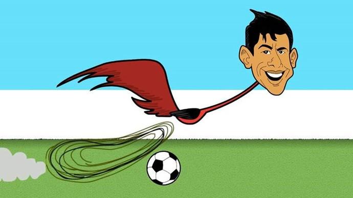 Cartoon Leo Moura Maracanã (Foto: Divulgação / Maracanã)