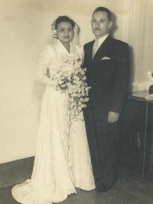 Casamento da dona Glorinha (Foto: Maria da Glória Orioli/Arquivo Pessoal)