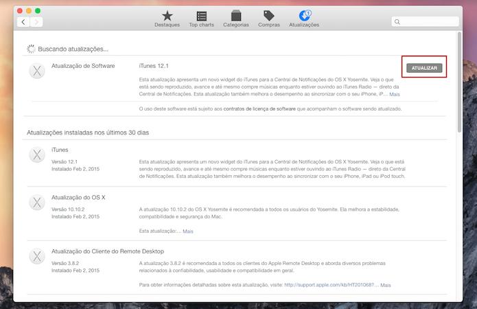 Atualize o iTunes para a versão 12.1 (Foto: Reprodução)