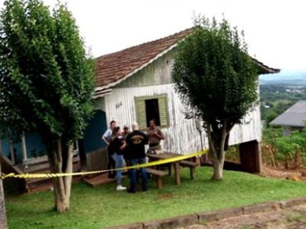 Bebê foi morto na madrugada de domingo em Capinzal (Foto: Reprodução/RBS TV)
