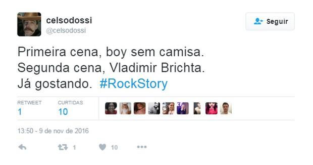 Comentários sobre novela Rock Story (Foto: Reprodução / Twitter)