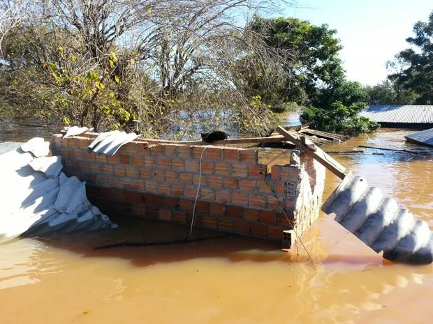 Itaqui é a cidade mais atingida pela chuva (Foto: Estêvão Pires/G1)