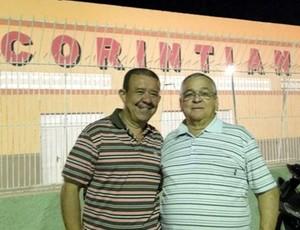 Raimundo Inácio Lobão, presidente do Corintians de Caicó - Edilson Libânio, vice-presidente do Corintians de Caicó (Foto: Divulgação)