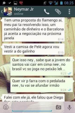 Neymar Flamengo whatsapp
