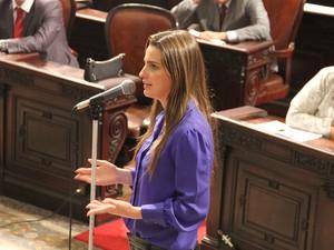 Clarissa Garotinho protocolou projeto para plebiscito (Foto: Divulgação)