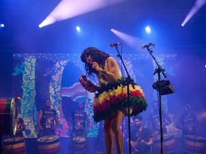 A cantora Kimbra anima o público no Rock in Rio neste domingo (15) (Foto: Luciano Oliveira/G1)