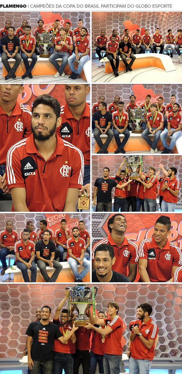 Mosaico - Flamengo Campeões participam do Globo Esporte (Foto: Editoria de Arte)