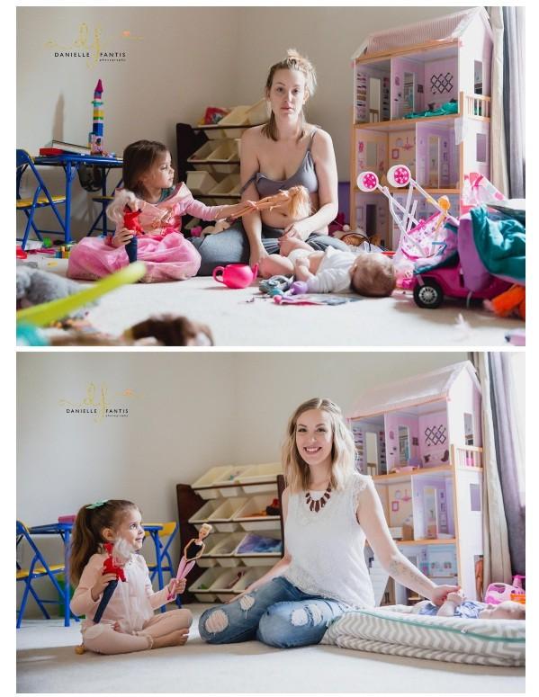 Realidade e idealização na maternidade (Foto: Reprodução/Facebook)