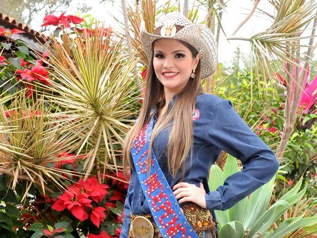 Juliana Cordeiro Joi é estudante de direito e foi escolhida rainha da 59ª Festa do Peão de Barretos (Foto: André Monteiro/Divulgação)