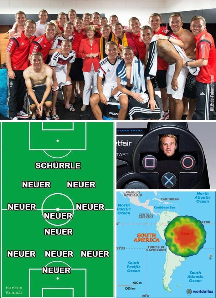 MONTAGEM - Manuel Neuer (Foto: Editoria de arte)