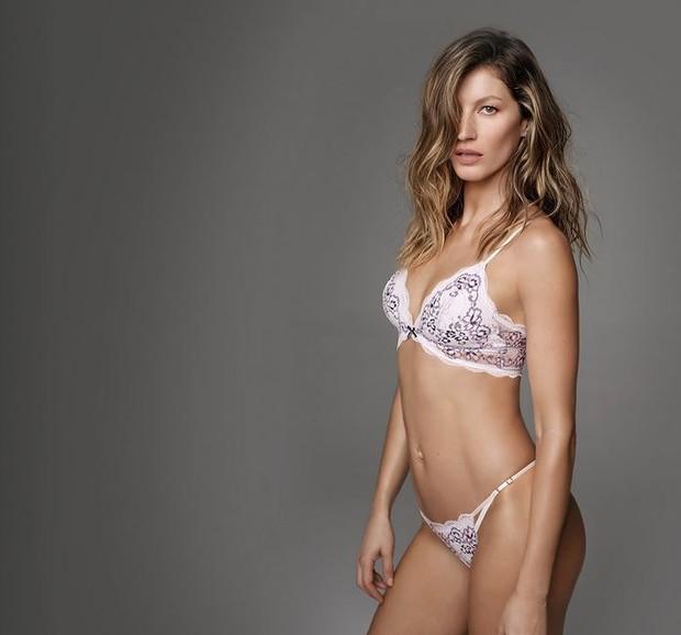 Gisele Bündchen em campanha de marca de lingerie (Foto: Reprodução)