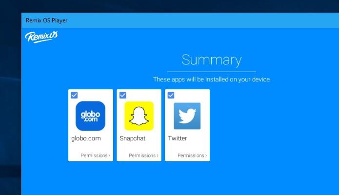 Confirme os apps escolhidos (Foto: Reprodução/Paulo Alves)
