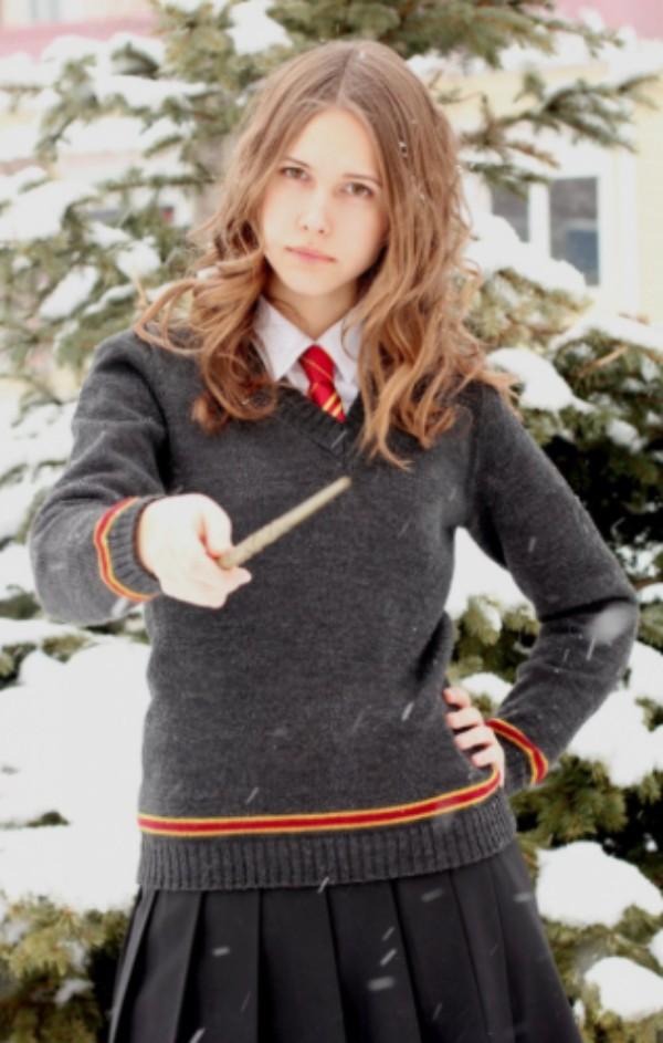 Internauta no look Hermione Granger, de Harry Potter, personagem de Emma Watson (Foto: Reprodução / Instagram)