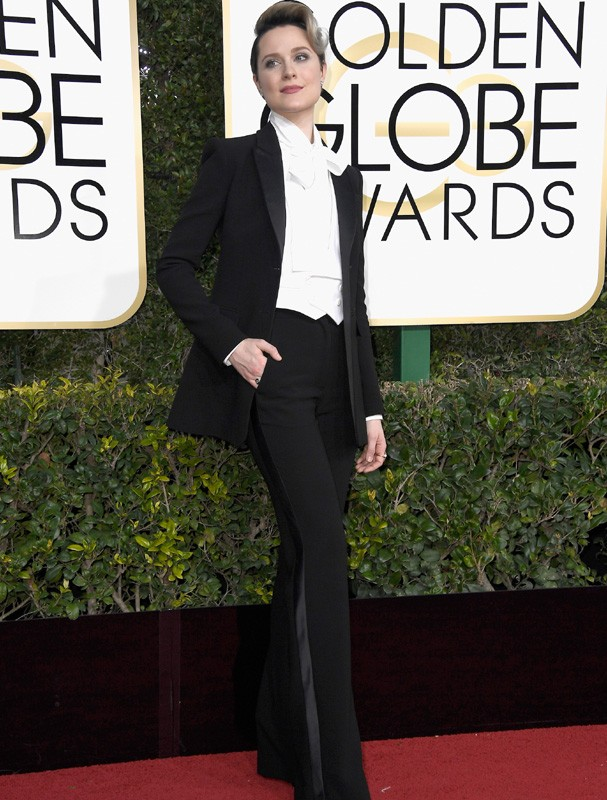 Evan Rachel Wood no Globo de Ouro (Foto: Getty Images)