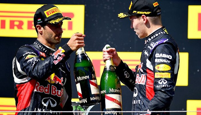 Daniel Ricciardo Daniil Kvyat GP da Hungria (Foto: Getty Images)