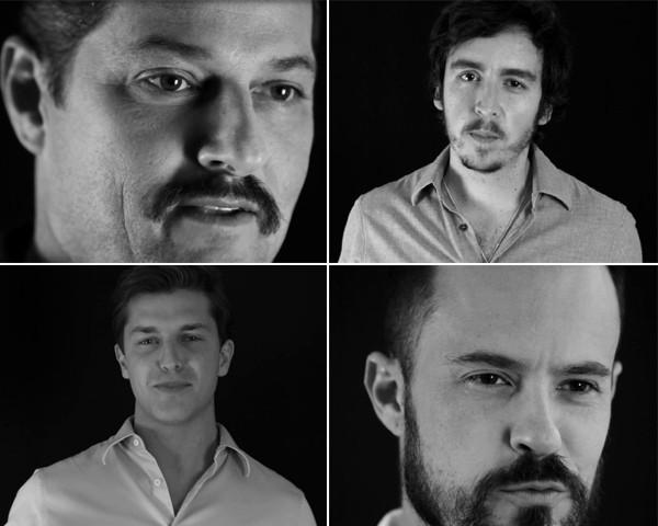 Marcelo Serrado, Wagner Santsteban, Klebber Toledo e Paulinho Vilhena endossam campanha da Marie Claire contra o estupro (Foto: Divulgação)