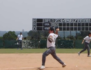 Gustavo Benítez: beisebol remete à infância (Foto: Daniel Mattos/Arquivo Pessoal)