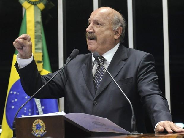 Luiz Henrique rebateu acusação em pronunciamento (Foto: Senado Federal/Divulgação)