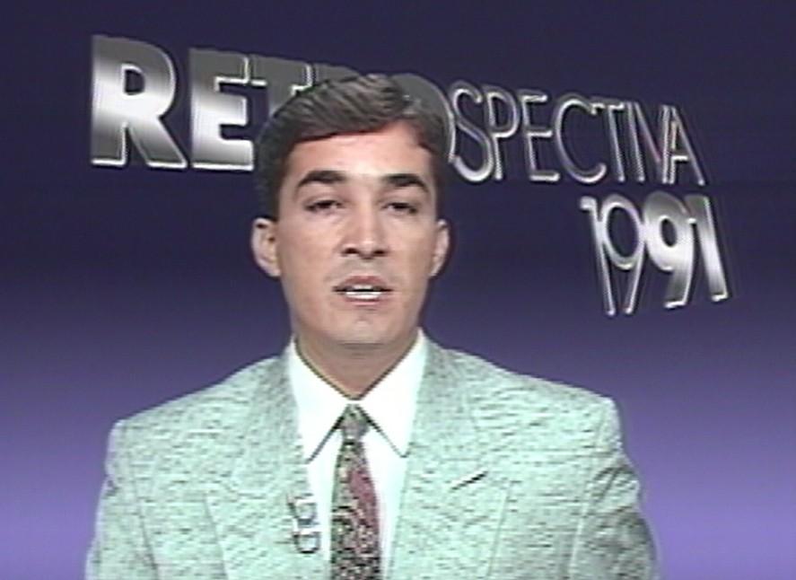 Ted Conti no início de sua carreira (Foto: Divulgação/ TV Gazeta)