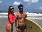 Sabrina Sato e Duda Nagle exibem corpos sarados em praia de Alagoas