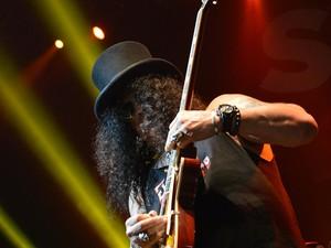 Slash inicia turnê brasileira no Rio (Foto: Maria Chrisá/G1)