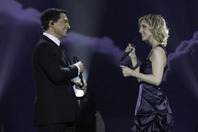 Daniel Boaventura e Kiara Sasso durante gravação do DVD (Foto: Divulgação)