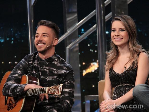 Sandy e Junior comentam histórias da carreira e da família (Foto: TV Globo/Programa do Jô)