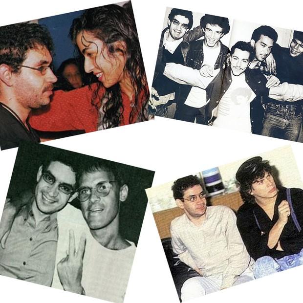 Renato e amigos - com Marisa Monte, com os Paralamas do Sucesso, Cazuza e Paulo Ricardo (Foto: Reprodução site oficial Renato Russo)