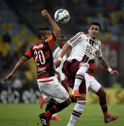 Flamengo x Fluminense Canteros Vinicius Maracanã (Foto: André Durão)