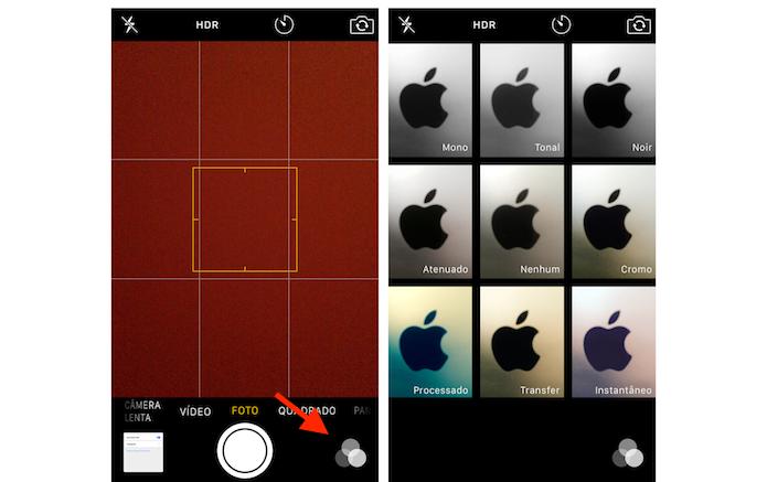 Acrescentando filtros para fotos na câmera do iPhone 5S (Foto: Reprodução/Marvin Costa)