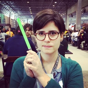 Rebeca Puig na Comic Con Experience em SP (Foto: Arquivo pessoal)