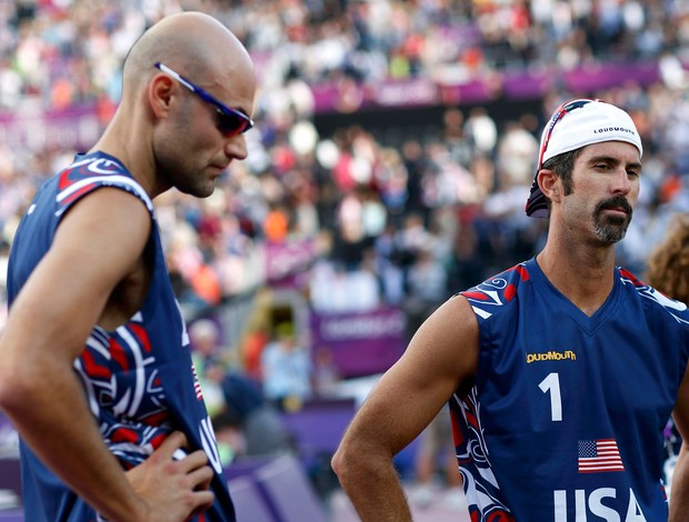 Todd Rogers Phil Dalhausser eua v&#244;lei de praia londres 2012 olimpiadas (Foto: Reuters)