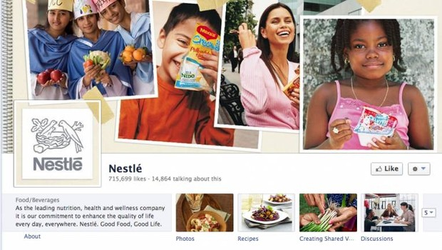 Facebook: Nestlé (Foto: reprodução / internet)