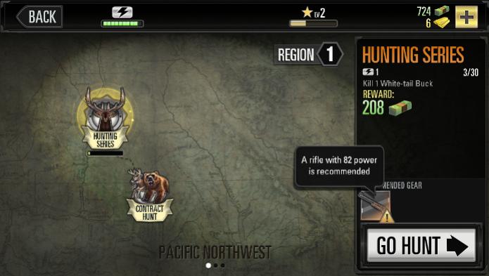 Escolha a sua caça e atenção nas escolhas dos equipamentos em Deer Hunter 2014 (Foto: Gamezebo)