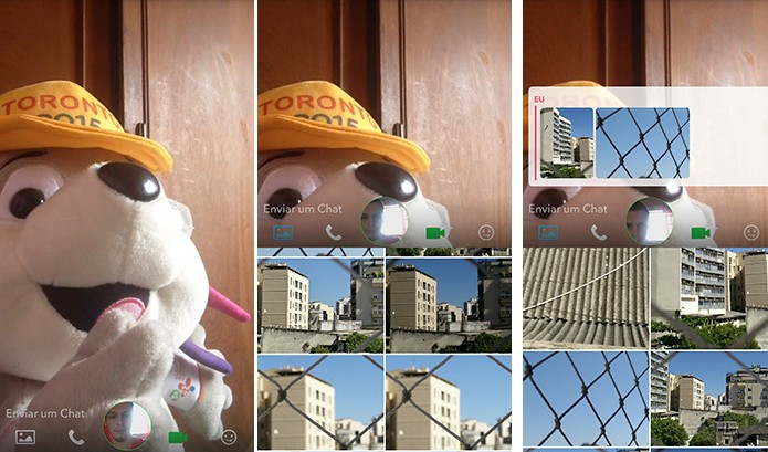 Snapchat pode ter fotos enviadas durante chamadas de vídeos (Foto: Reprodução/Elson de Souza)