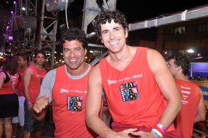 Raí e Reynaldo Gianecchini em Salvador (Foto: Joilson Cesar/AgHaack)