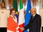 Dilma chega à Itália e se reúne com presidente Sergio Mattarella