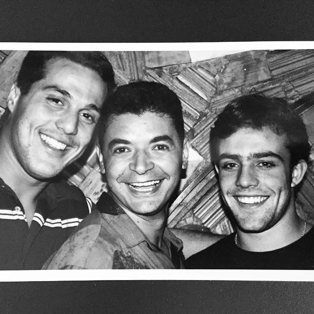David Brazil com Julio Cesar e Roger Flores (Foto: Reprodução/Instagram)