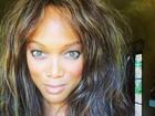Tyra Banks aparece descabelada em selfie