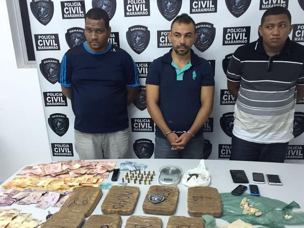 Dez quilos de crack foram encontrados na residência de Marcos André Silva Vieira situada em São Luís (Foto: Divulgação/Polícia Civil)