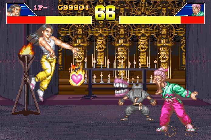Power Instinct também conhecido como jogo da velhinha que joga dentadura (Foto: Reprodução)
