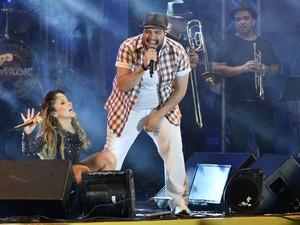 Tiago Abravanel faz participação em show de Claudia Leitte (Foto: Max Haack / Ag Haack)