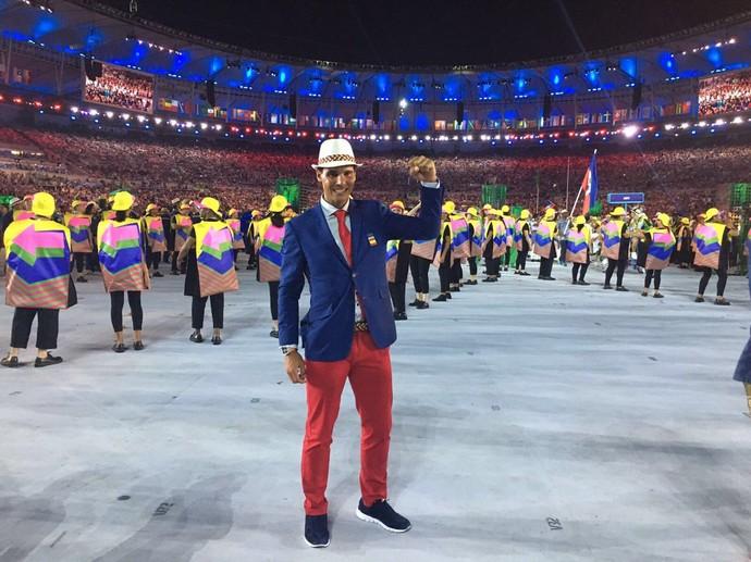 Rafael Nadal na cerimônia de abertura da Olimpíada  (Foto: Instagram)