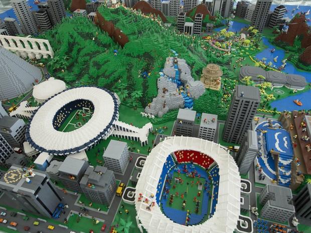 Maquete do Rio de Janeiro de Lego (Foto: Divulgação)