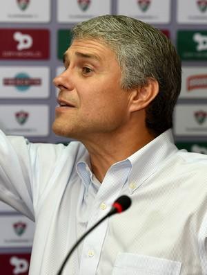 Coletiva Peter Siemsen - Fluminense Fred (Foto: André Durão)