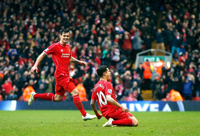 Philippe Coutinho, Liverpool x Manchester City (Foto: Reuters)